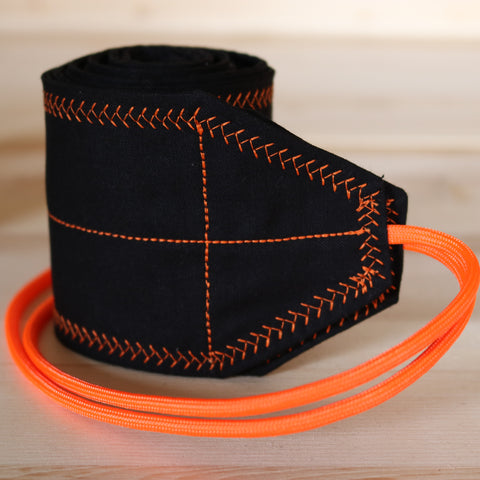 Wrist Wraps Black Neon Orange