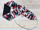 Wrist Wraps Red Gray Camo