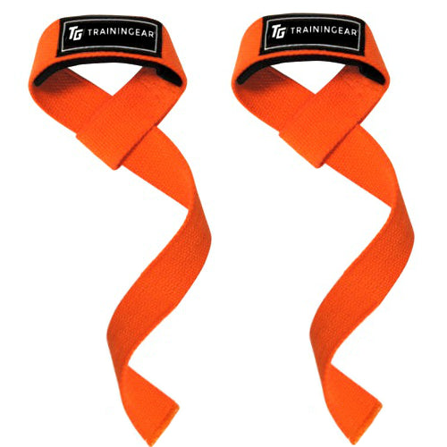 Padded Lifting Straps Orange