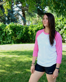 3/4 Women Shirt Gray & Pink
