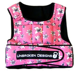 Unbroken Designs Deep Pink Lily 20 lbs Weight Vest