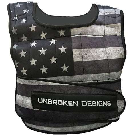 Unbroken Designs Stars and Stripes 20 lbs Cropped Weight Vest