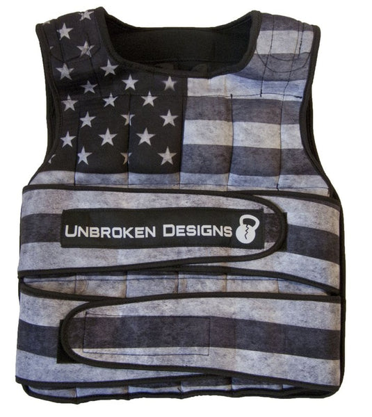 Unbroken Designs Stars and Stripes 40 lbs Weight Vest