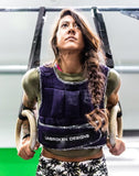 Unbroken Purple Mesh with Paisley Print 20 lbs Weight Vest