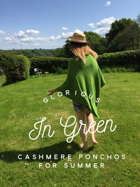 Green Cashmere Poncho