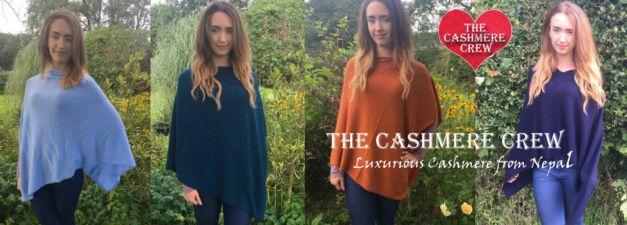 Gorgeous Cashmere Ponchos from Nepal
