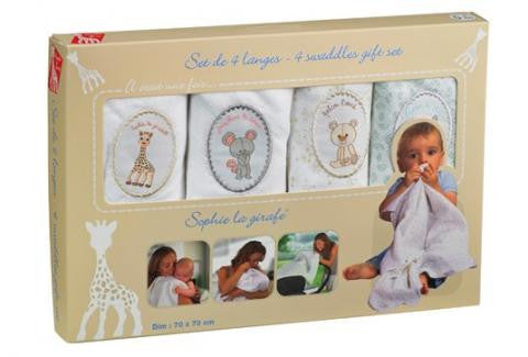 Sophie the Giraffe swaddles gift set - Tendre Deal