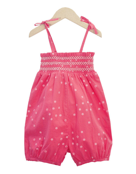 St Tropez Raspberry Romper with frogs