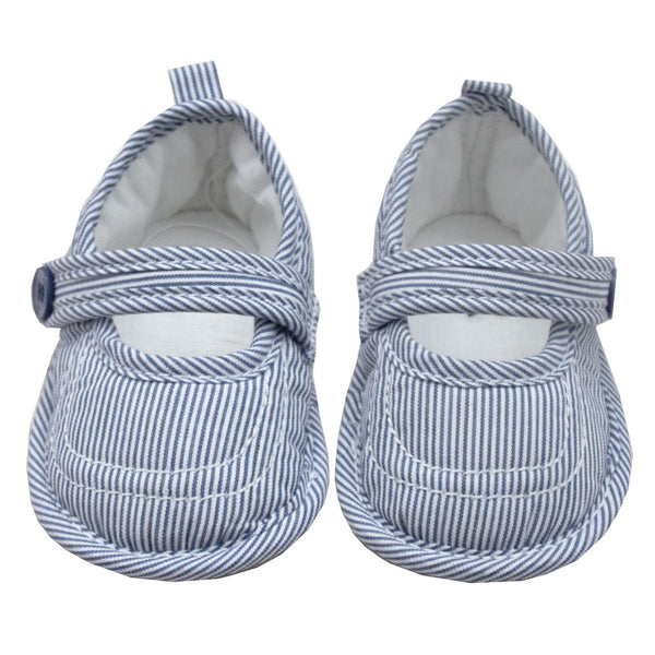 Baby Mary Jane Stripe Shoes - Blue - Tendre Deal - 1