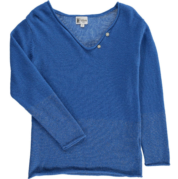 Drop collar Jumper with sparkles - Royal Blue - Tendre Deal