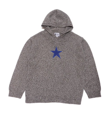 Knitted Hooded Sweater with star - Tendre Deal
