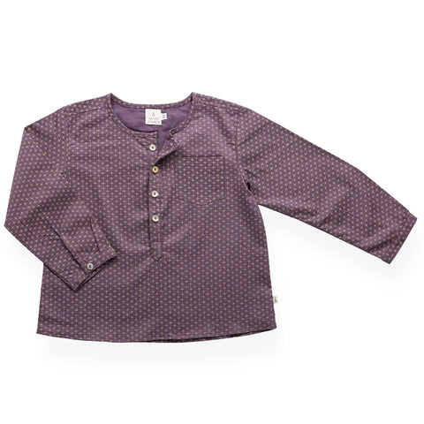 Jules shirt - plum with mini skulls