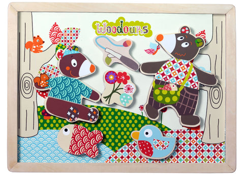 Woodours Magnetic Puzzle - Tendre Deal - 1