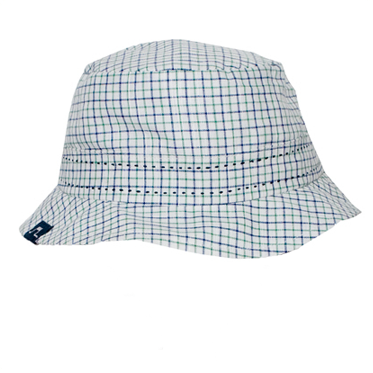 Checks Sun Hat - Navy - Tendre Deal