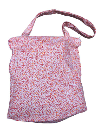 Large Floral Cotton Bag - Red - Tendre Deal - 1