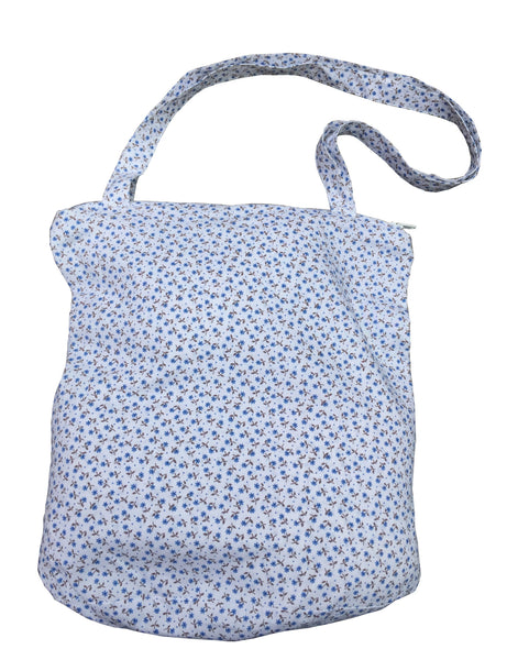 Large Floral Cotton Bag - Blue - Tendre Deal - 1