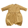 Golden linen romper
