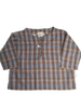 Theodore shirt - blue and brown check print