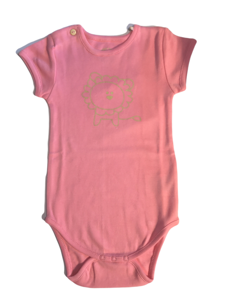 "Pink Bodysuit with ""Lion"" print"