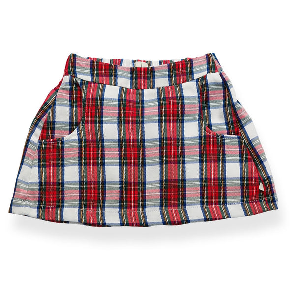 Garance check mini skirt