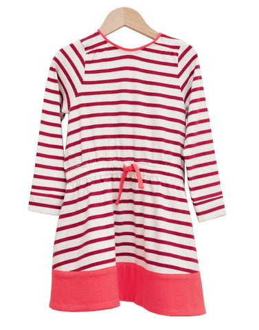 Burgundy Striped Dress - Tendre Deal - 1