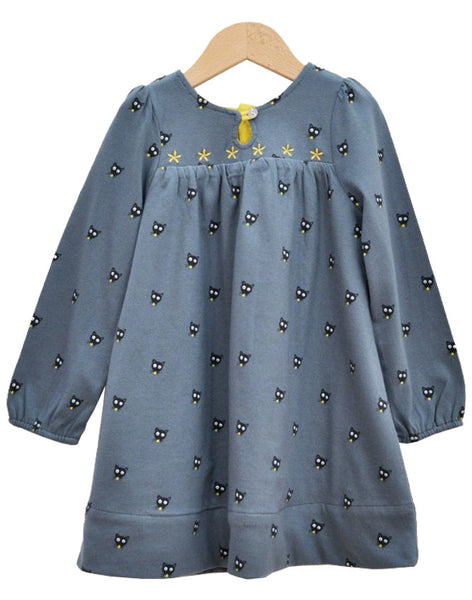 Blue/Yellow Dress with Mouse Print - Tendre Deal - 1
