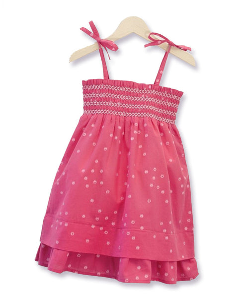 St Tropez Raspberry Smock Dress