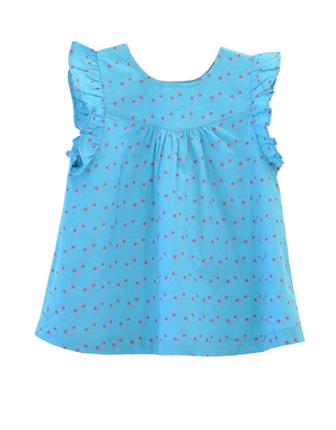 Candy Stars Blouse - Turquoise