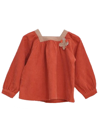 Corduroy Poppy blouse - Tendre Deal