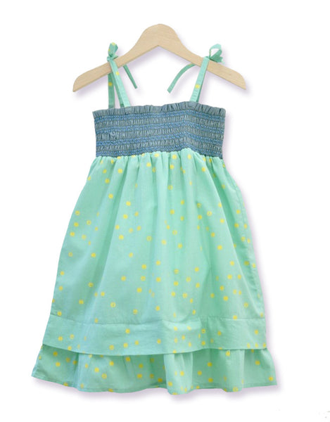 Mallorca Light Green Smock Dress