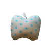 Mini Apple Cushion - Grey with Turquoise Dots - Tendre Deal