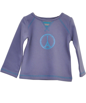 Sweatshirt Peace and Love in Paris - Tendre Deal - 1