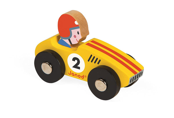 F1 Wooden Racing Car - Yellow - Tendre Deal