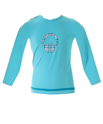 UV50+ rash shirt - Aqua/headphone - Tendre Deal - 1