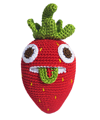 Hand crocheted Strawberry - Tendre Deal