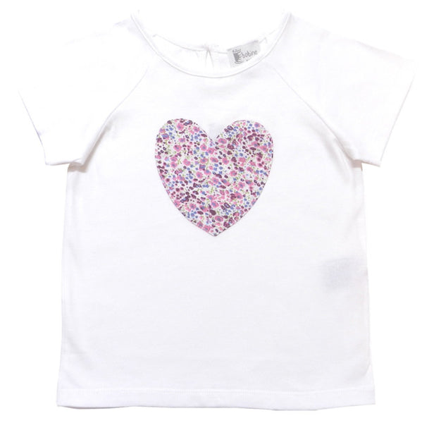 Bella T-shirt with Floral heart