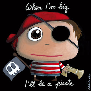 """When I'm big I will be a pirate"" canvas print"