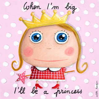 """When I'm big I will be a princess"" canvas print"