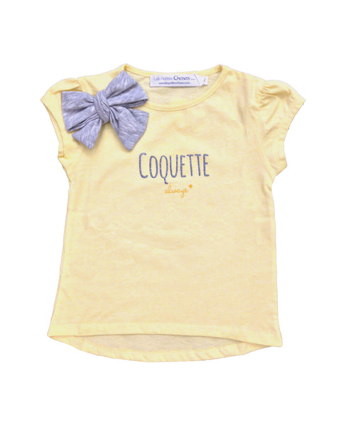 "T-shirt ""Coquette"" with Bow - Tendre Deal"
