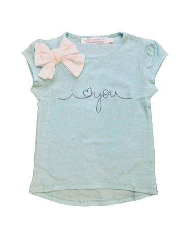 "T-shirt ""I Love you"" with bow - Tendre Deal"
