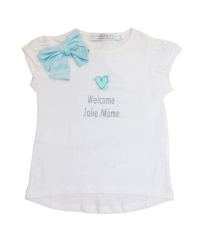 "T-shirt ""Jolie Mome"" with Bow - Tendre Deal"