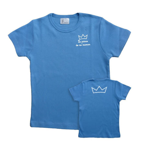 Prince T-shirt with 2 crowns - Blue