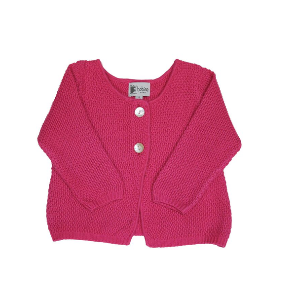 Knitted Baby Cardigan - Fuchsia - Tendre Deal