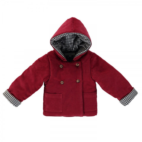 Alix Padded corduroy coat - Burgundy