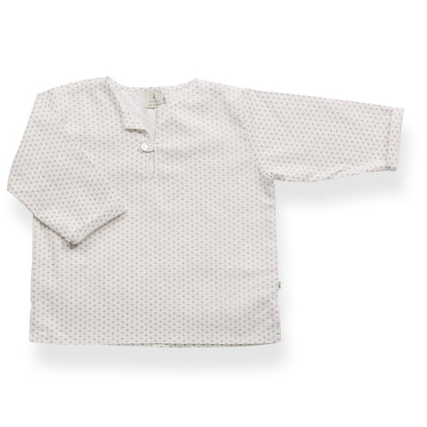 Armand shirt - off white with mini grey skulls