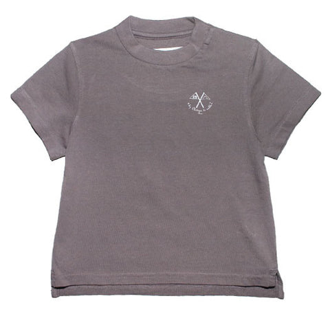 Printed T-Shirt with Grey Flags - Tendre Deal
