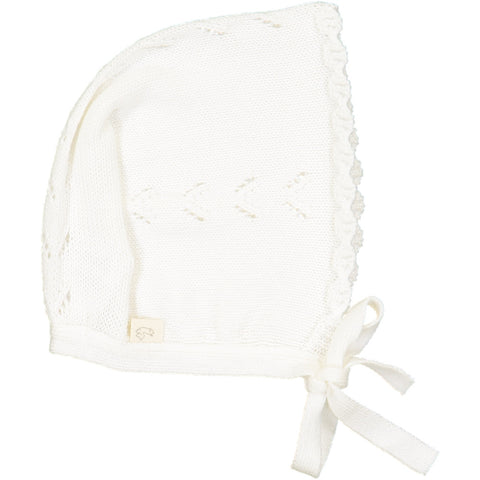 Frivole Baby knitted Hat - White - Tendre Deal