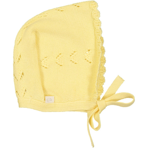Frivole Baby knitted Hat - Yellow - Tendre Deal