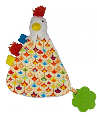 Happy farm - Bob the rooster comfort blanket - Tendre Deal - 1