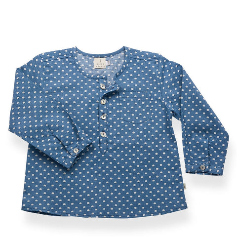 Celestin shirt - blue white with confettis